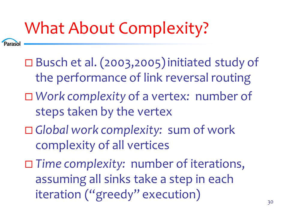 Worst-Case Work Complexity Bounds [Busch et al.]